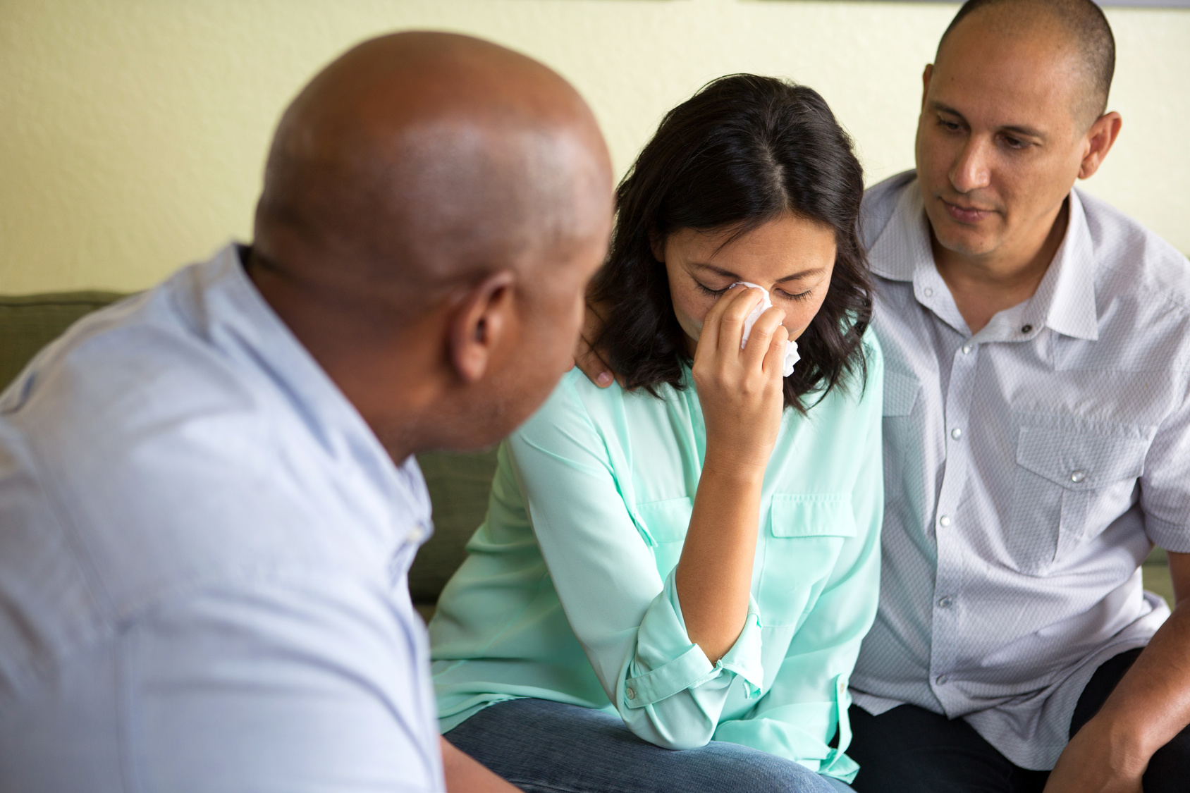 Couple getting counseling for relationship problems.